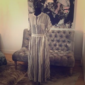 Size 4 Theory full length striped dress